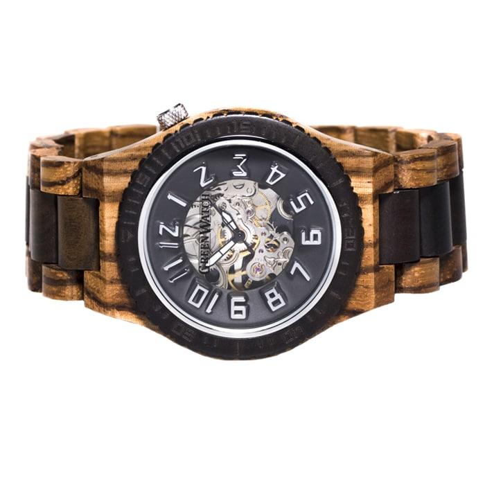 Houten-horloge